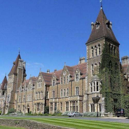 The exterior of Charterhouse School in Surrey.