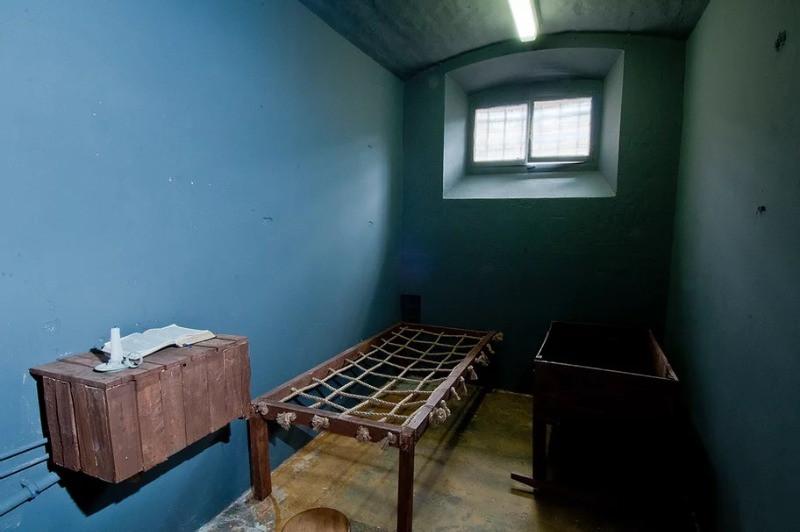 A cell inside Shrewsbury Prison