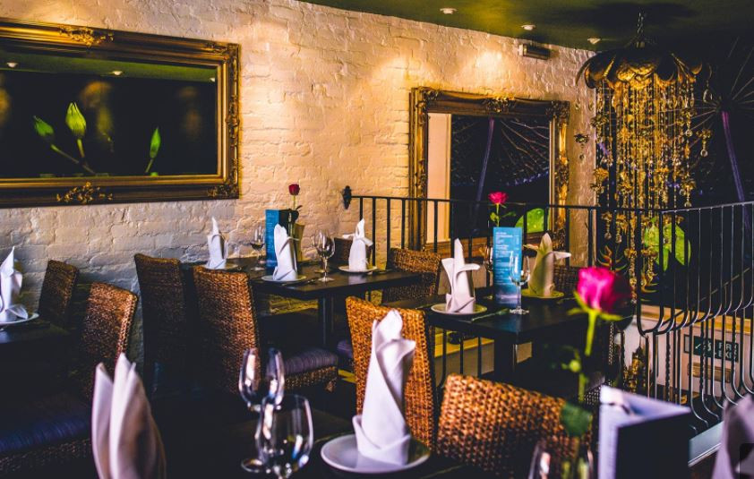 The interior of Thai Sarocha restaurant in Salisbury.