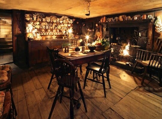 The cosy kitchen in Denis Severs House in Spitalfields.