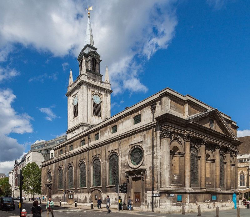 The exterior of St Lawrence Jewry next Guildhall