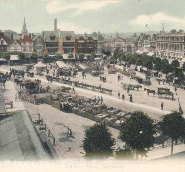 An old photo of the Market Square