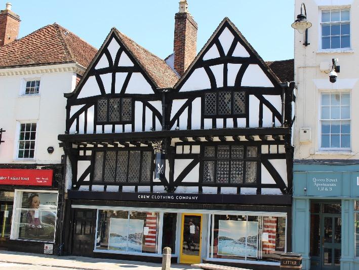 The Tudor building in Queen Street, Salisbury