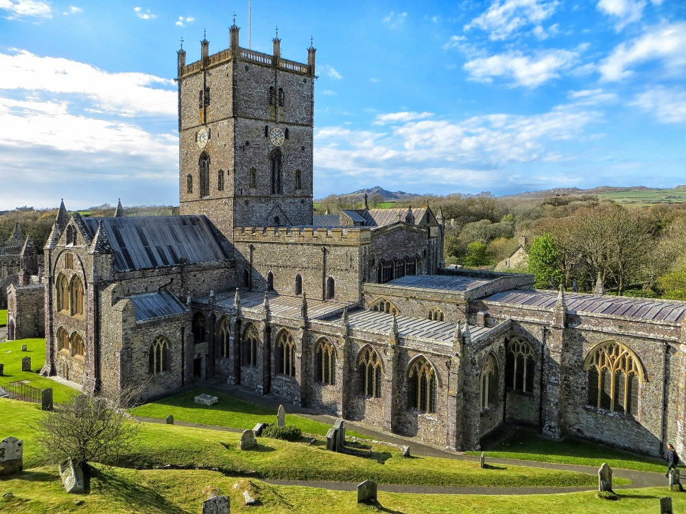 The exterior of St. Davids cathedral