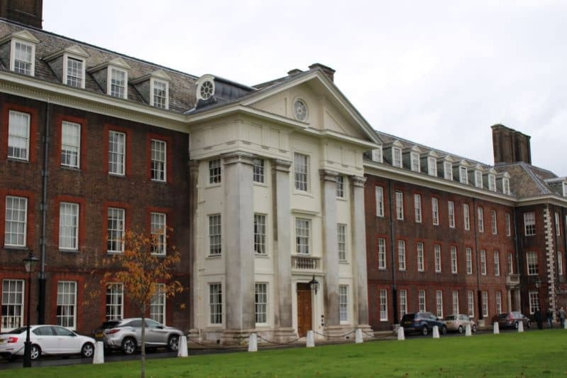 An impressive large building which is part of the Chelsea Hospital