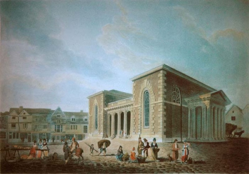 A painting of how the Guildhall used to look