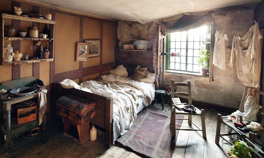 One of the attic rooms in 18 Folgate Street