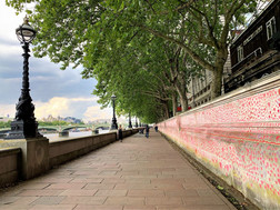 THE NATIONAL COVID MEMORIAL WALL, LONDON