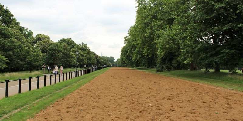 A sandy track in Hyde Park