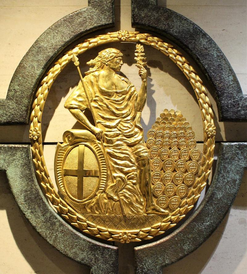 A golden seal of Britannia