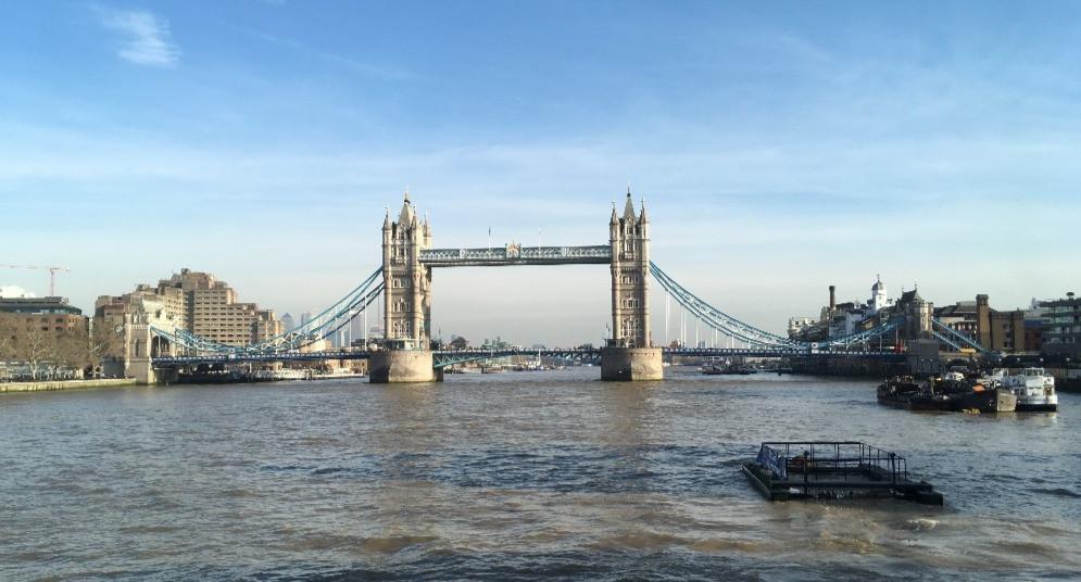 Tower Bridge as seen from HMS Belfast.
