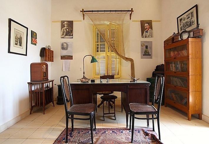Inside Howard Carter's house in Luxor, Egypt.