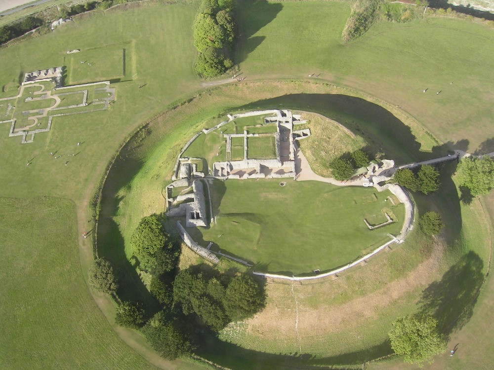 An aerial view of Old Sarum