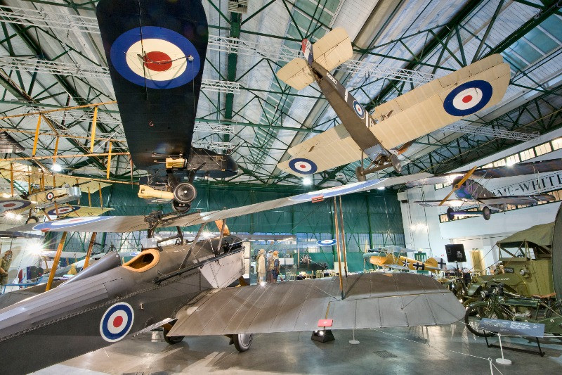 Plaes inside the RAF museum at Edgeware