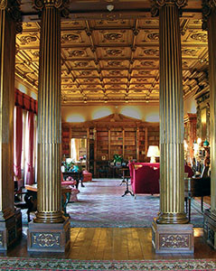 The North Library in Highclere Castle.