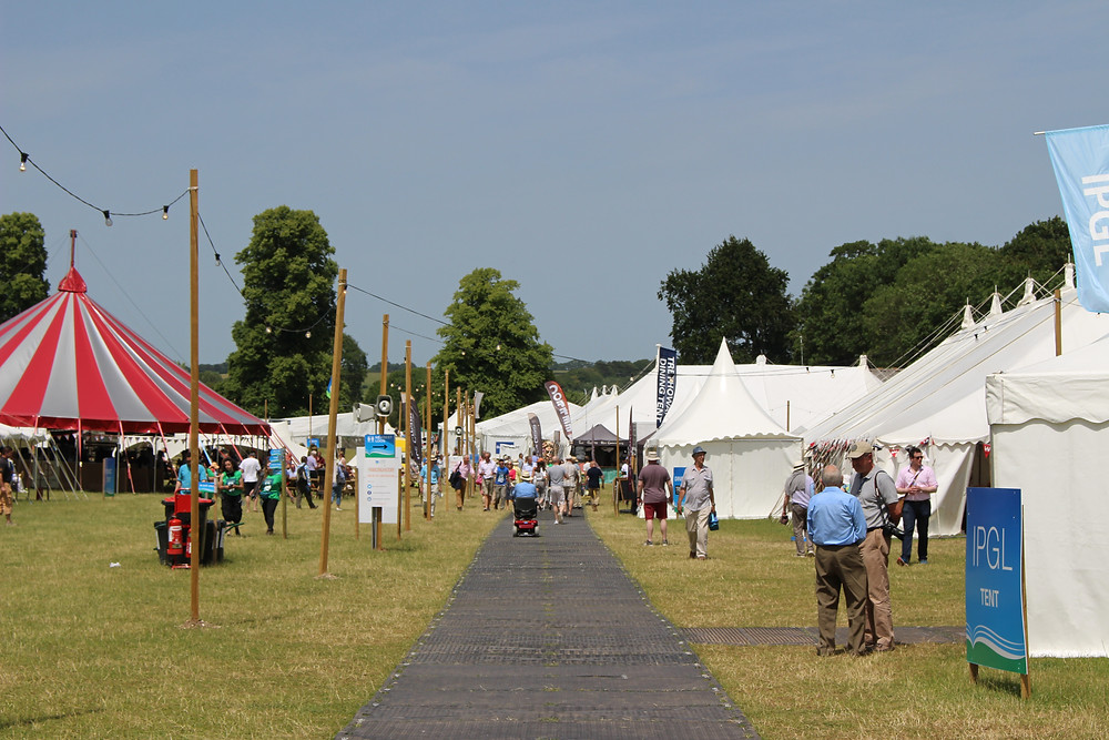 Crowds of people at the Chalke Valley History Festival site