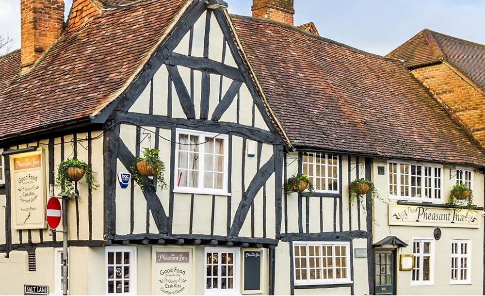 The exterior of the Phesant Inn in Salisbury