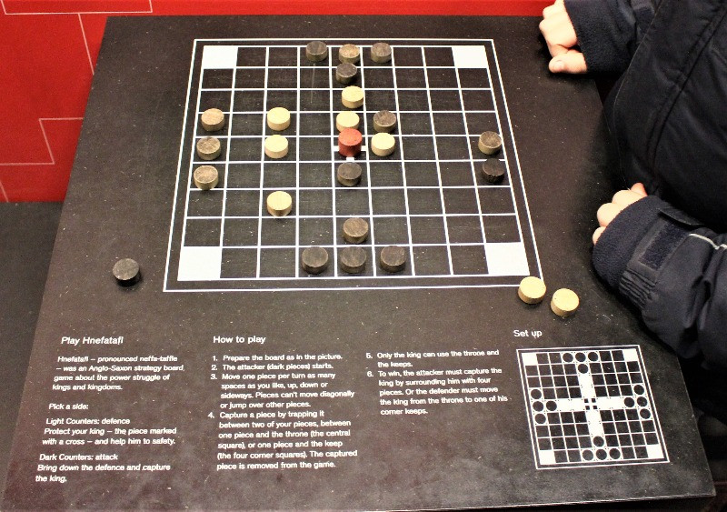 A close up of the game of Hnefatafl