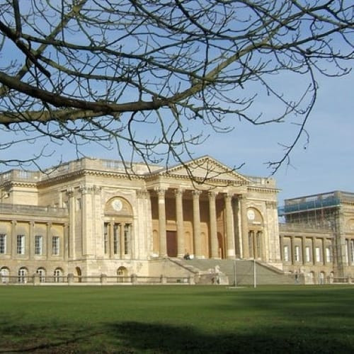 The grand main building of Stowe School.