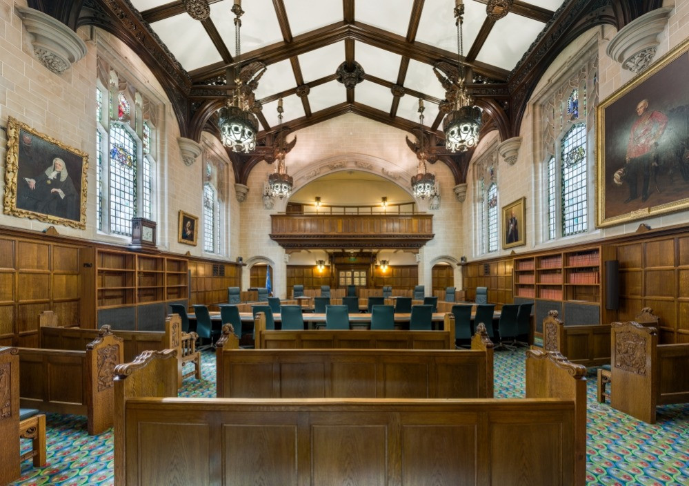 The interior of Courtroom One