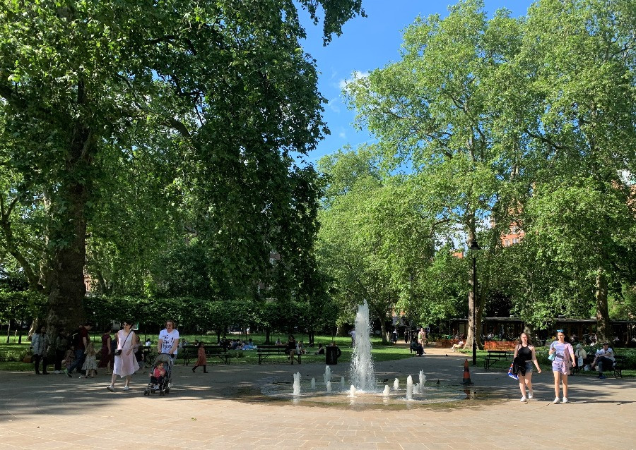 The fountain in Russell Square