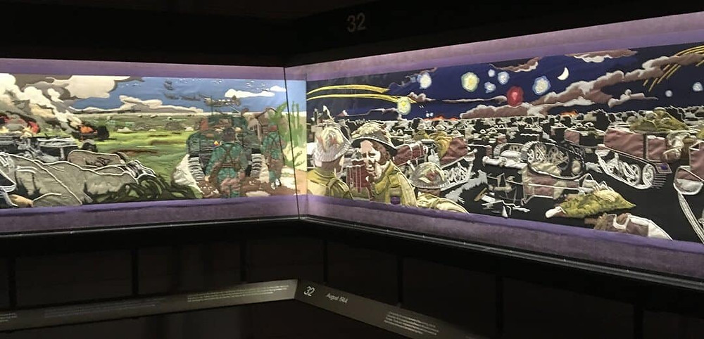 The embroidery of Operation Overlord in the D-Day Museum in Portsmouth.