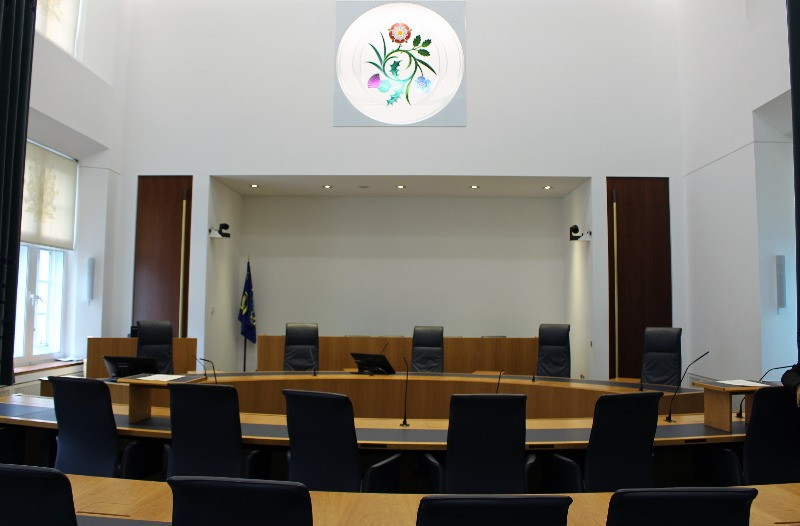 The rather plain Courtroom Two