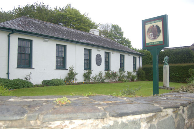 The outside of the Lloyd George Museum in Wales.