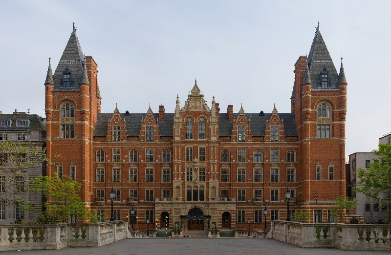The exterior of the Royal College of Music in London.