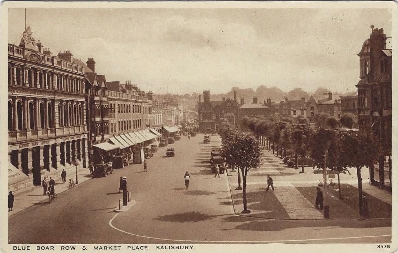 A sepia photo of Blue Boar Row