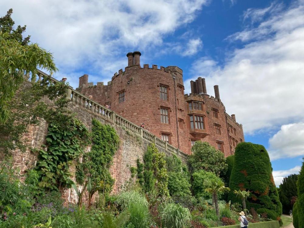 Castle Powis from below