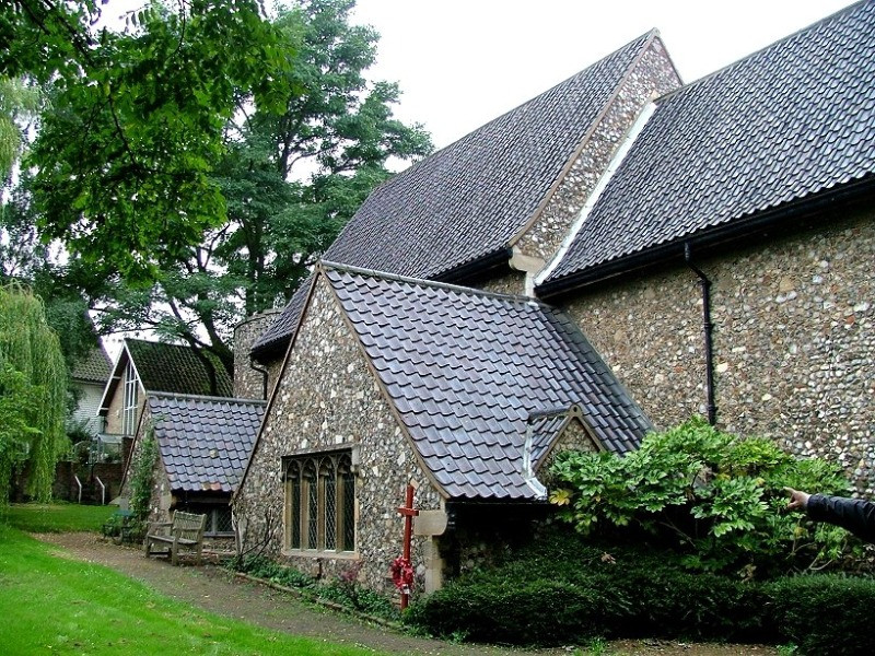The exterior of St. Julians chapel in Norwich
