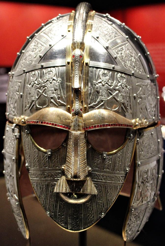 A reconstruction of the Sutton Hoo helmet