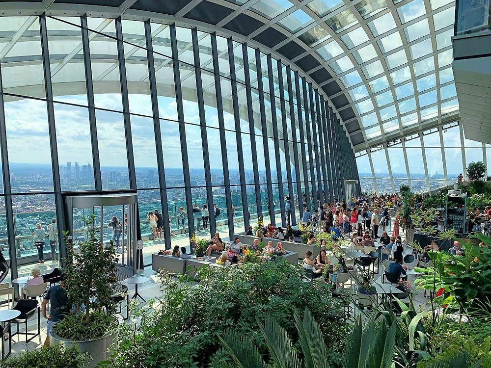 The interior of the Sky Garden in 20 Fenchurch Street
