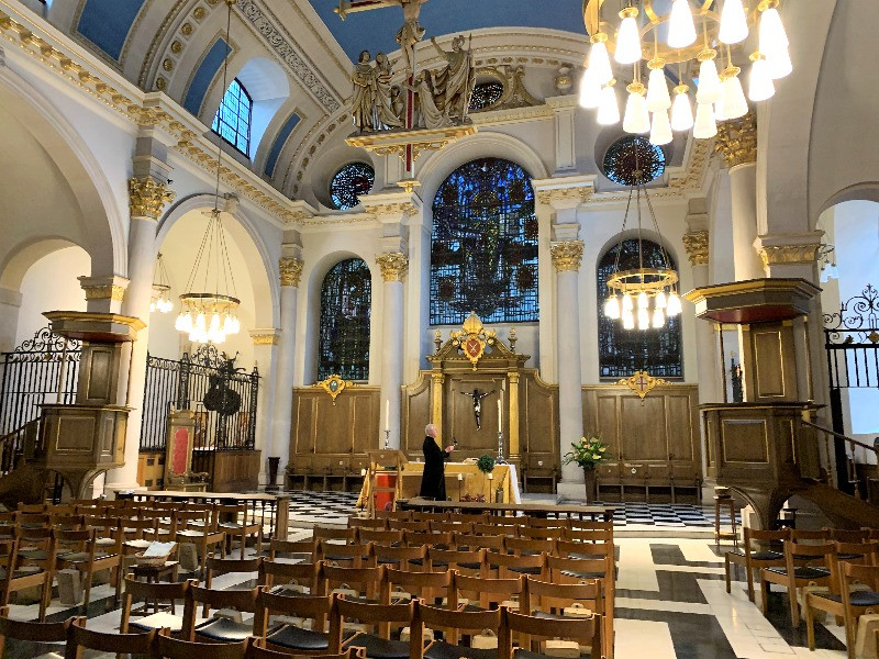 The glorious interior of St Mary le Bow