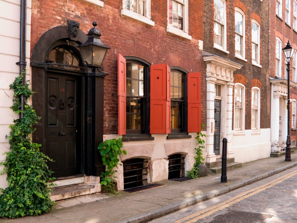 The exterior of Denis Severs House in Spitalfields.
