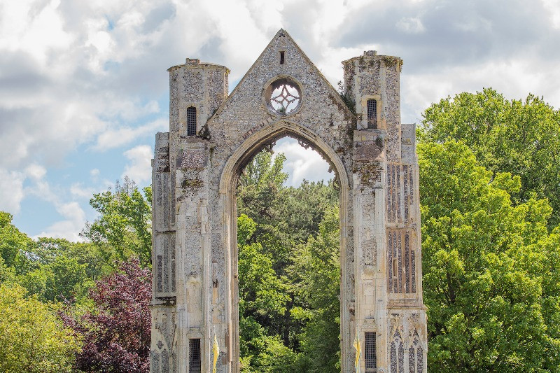 The ruins of Walsingham Abbey