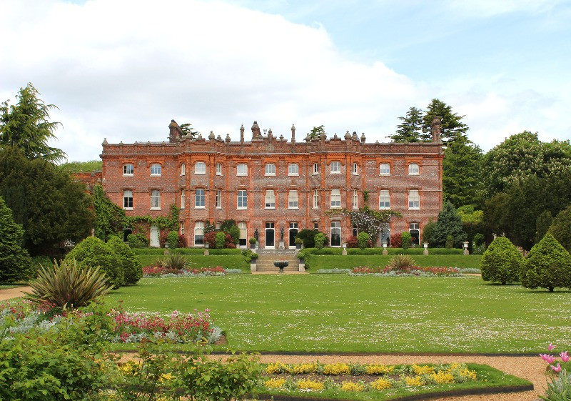 The outside and gardens of Hughenden Manor.