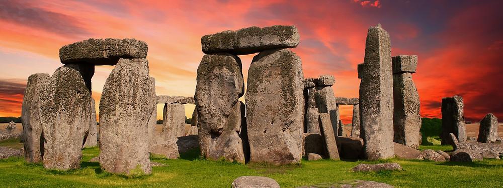 Stonehenge at suset