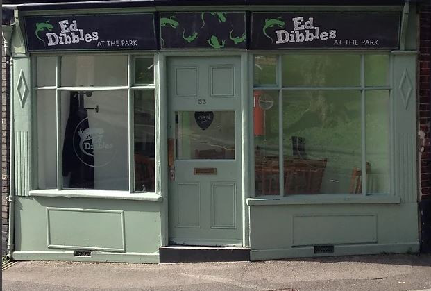 The exterior of Ed Dibbles Cafe in Salisbury