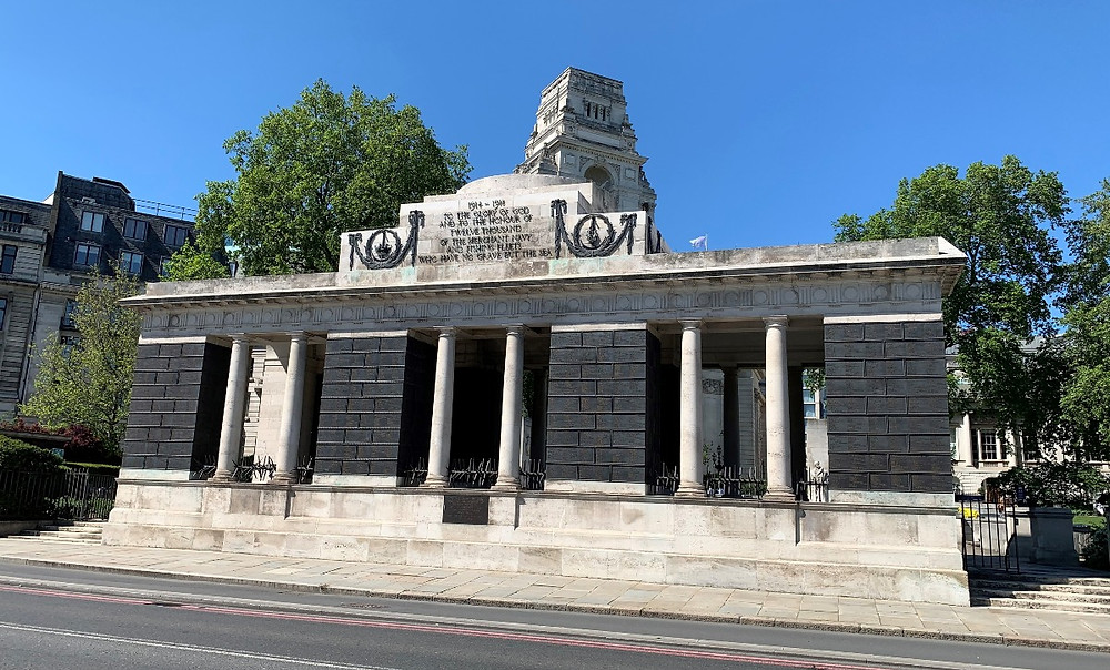 Th exterior fo the memorial to the merchant navy at Tower Hill