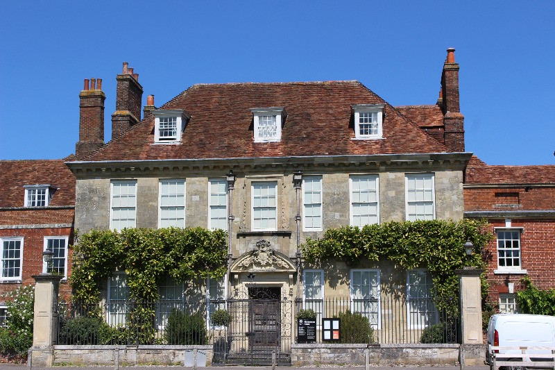 The outside of Momepesson House in Salisbury's cathedral close.