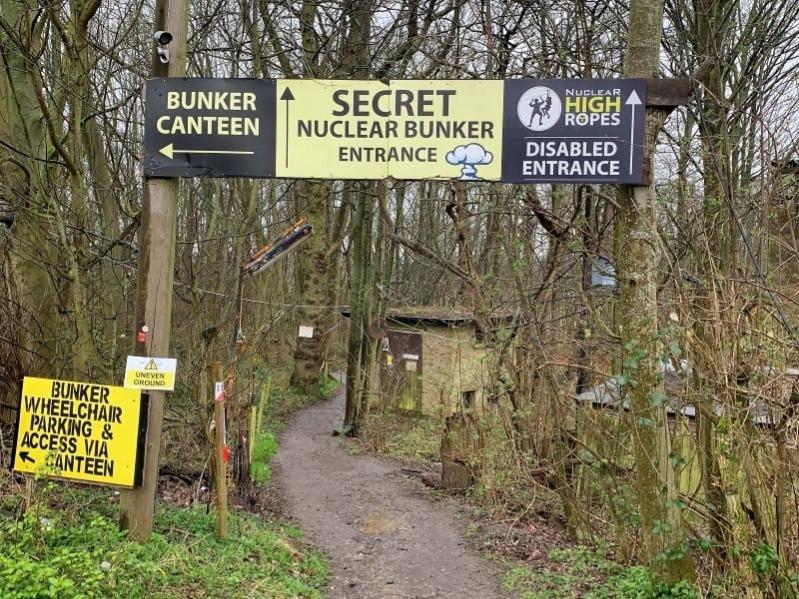 Lots of signage on woodland