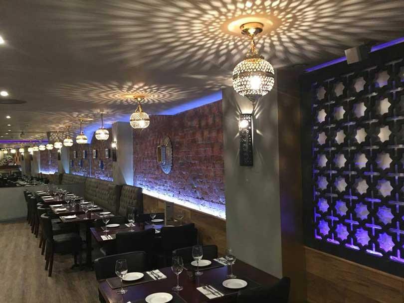 The inside of Baroushka restaurant in Salisbury.