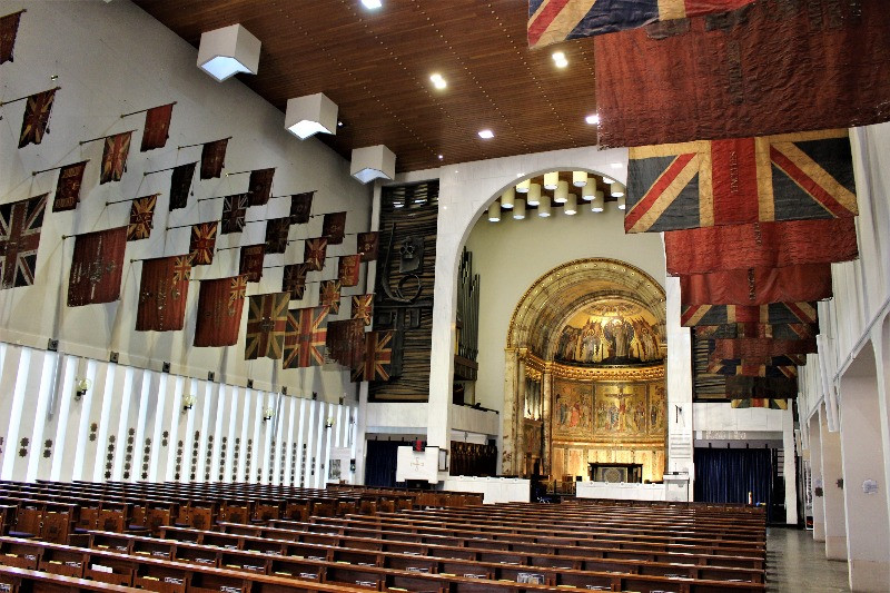 The interior of the Guards Chapel