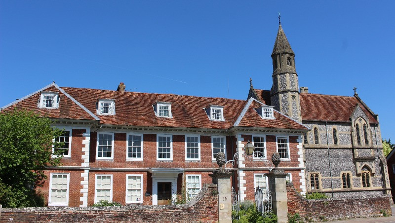 The outside of Sarum College showing the chapel.