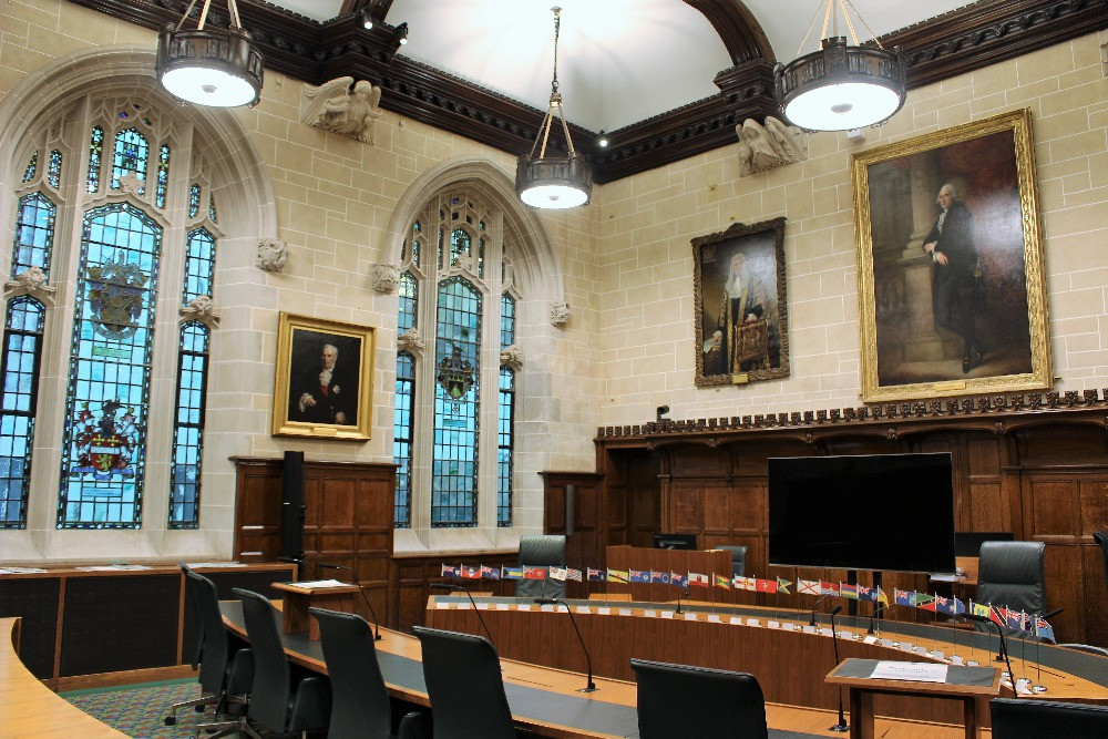 The interior of Courtroom Three
