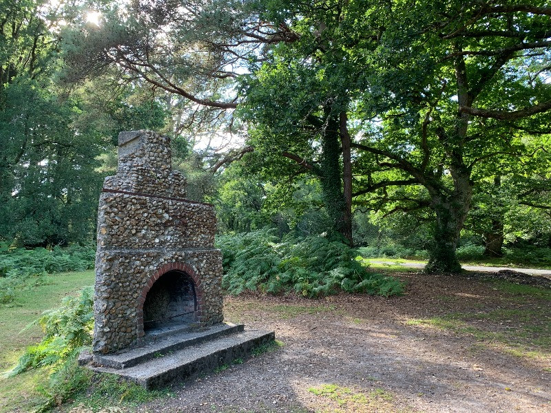 The Portuguese fireplace in the New Forest