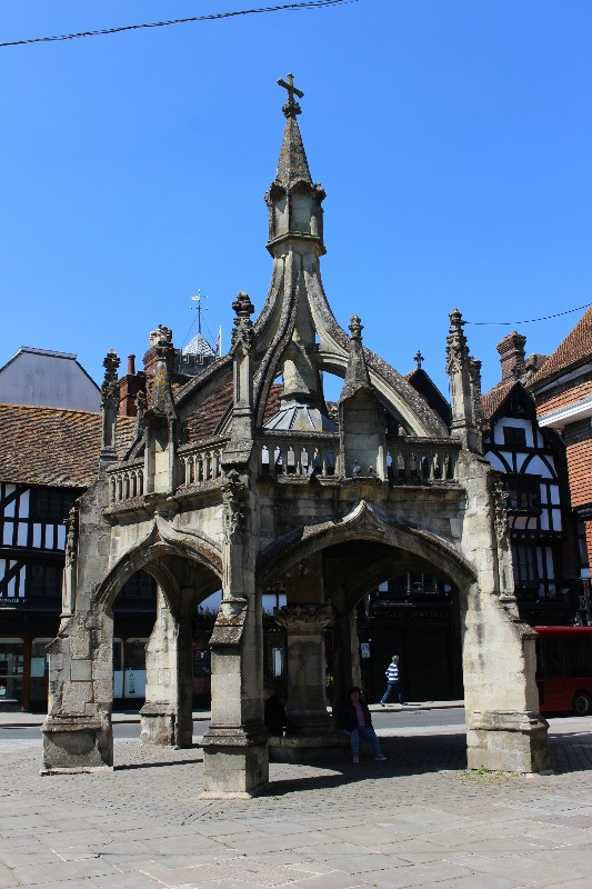The 13th century Poultry Cross i Salisbury town centre