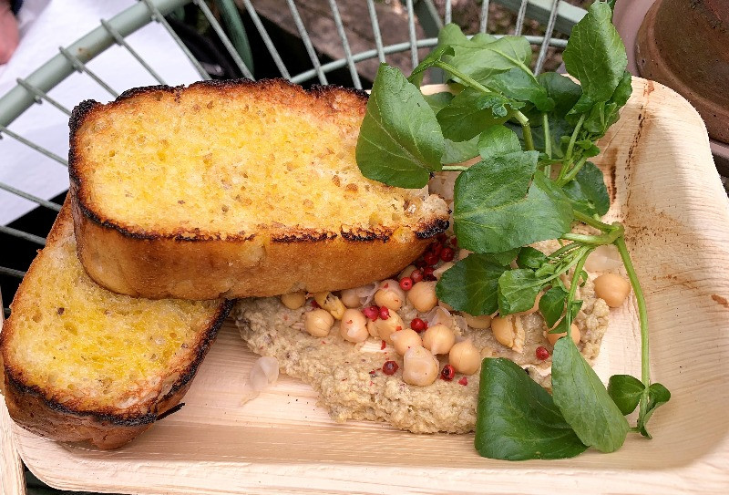 A plate of food with Chalke Valley watercress on top